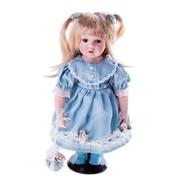 Кукла коллекционная Дашенька с бантиками 37 см 763953 фото