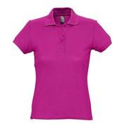 Рубашка поло женская PASSION 170 темно-розовая (фуксия), размер S фото