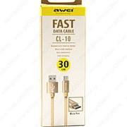 USB Data кабель Awei CL-10 30см (золотистый) фото