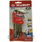 Набор Зубр Ключи Мастер имбусовые длинные, Cr-V, сатинированное покрытие, HEX 1,5-10мм, 9 предметов Код: 27460-2_z02 фото