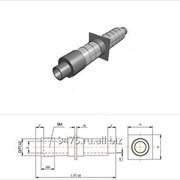Опора неподвижная стальная в оцинкованной трубе-оболочке с металлической заглушкой изоляции d=426 мм, s=7 мм, L=210 мм