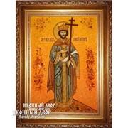 Константин - Именная Икона Из Янтаря Ручной Работы Код товара: Оар-194 фото