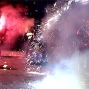 Огненное пиротехническое шоу фото