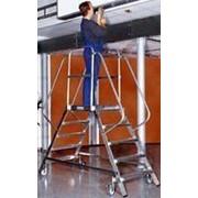 Лестница с платформой 2х8 ступеней 810502 фото