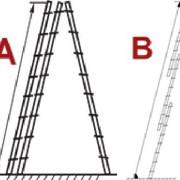 Лестницы АЛЮМИНИЕВЫЕ выдвигаемые тросом 3-х секционные