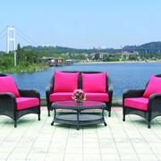 Комплект плетеной мебели из искусственного ротанга Садовый рай фото