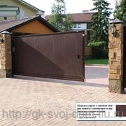 Уличные откатные ворота DoorHan 3500x2100. фото