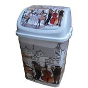 """Ведро для мусора """"Камелия"""" КАФЕ 18л. №3 Код: РП-1013 фото"""
