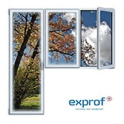 Балконный блок ПВХ Exprof 2100х2100 мм 2-ЛГ-ПП 2 стеклопакет фото