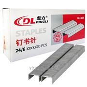 Скобы для степлера №24/6, dingli dl-369, 1000 шт. DL-369 фото