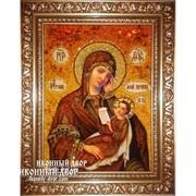 Икона Янтарная - Богородица «Утоли Моя Печали» - Ручная Работа Код товара: Оар-6 фото