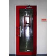 Противопожарные светопрозрачные двери фото