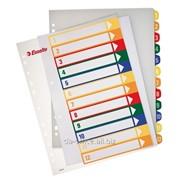 ESSELTE цветной пластик цифровой (12 шт.) 62143 фото