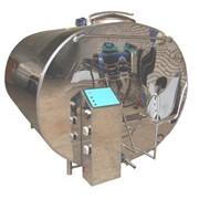 Танк охладитель молока закрытого типа горизонтальный с автоматической системой промывки фото