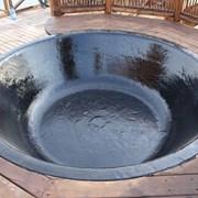 Чугунный чан для купания в бани и над костром