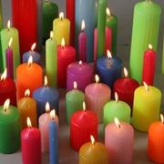 Свечи 12 см фейерверк золотистые фото