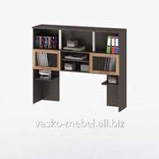 Надстройка для стола, Васко СОЛО-013 Корпус венге, фасад слива/стекло фото