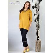 Блуза 1580 Горчичный цвет фото