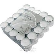 Набор чайных свечей, 4*2 см, 50 шт, белые, 6 часов (Kaemingk) фото