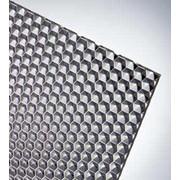 Фактурный полистирол (призма) листовой прозрачный, бронзовый фото