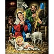 Раскраски по номерам Рождение Христа фото