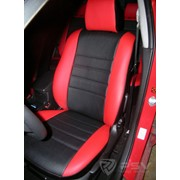Чехлы Mazda 3 09 5 п/г чер-крас эко-кожа Оригинал фото