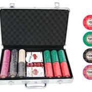 Покерный набор на 300 керамических фишек с номиналом ГД7 фото