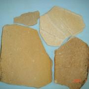 Песчаник неокантованный бело-желтый 5-6с фото
