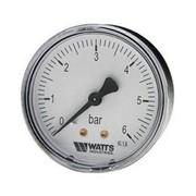 Манометр аксиальный Watts (Ваттс), 0-6 бар, 1/4 фото