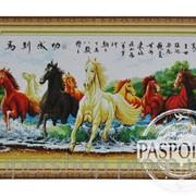 Набор для вышивки картины Лошади в реке 119х67см 373-37010674 фото