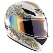 Шлем AGV K3 white gold fleurs фото
