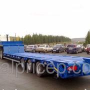 Трехосный низкорамный трал г/п 40 тонн на осях SAF пневматическая подвеска фото