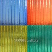 Сотовый поликарбонат Novattro синий 10 мм фото