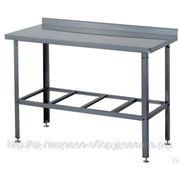 Стол производственный СП Б 2000*600*870уг. Сварной с бортом (н/ст, 6 ног) фото