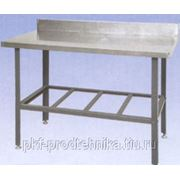 Стол производственный с бортом СРОб 1800 (нерж.) фото