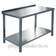 Стол производственный с бортом СПРП-7-3 (нерж.) фото