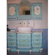 Реставрация росписи на мебели. фото