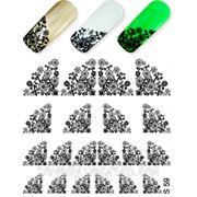 Слайдер Дизайн - Ажур, узоры с цветами S-59 ( цвета-золото, серебро, белый, черный) фото