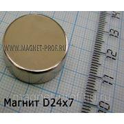 Неодимовый магнит 24х7мм. фото