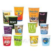 Бумажные стаканчики с логотипом фото