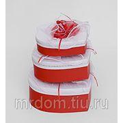 """WB-18 комплект коробок сердце из 3шт """"цветы любви"""" (871817) фото"""