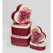 "WB-16 комплект коробок сердце из 5шт ""цветы страсти"" (871288) фото"