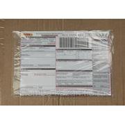 Самоклеющийся пакет для сопроводительных документов (прозрачный) тип ЮНИПАК 230х325мм. фото