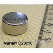Неодимовый магнит 20х10мм. фото