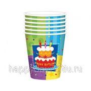 "Бумажные стаканы для праздника ""Торт Birthday"""