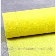 Бумага гофрированная простая 573 светло-желтый, 180 гр. фото