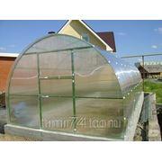 Теплица из поликарбоната длина 4м с усиленным каркасом шаг 1м. фото
