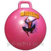 Мяч прыгун с ручкой d=65см 800гр фото