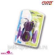 Скакалка FLOTT (с подшипником, ручки пластиковые) фото