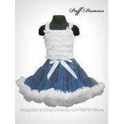 Пышная юбка. Pettiskirt Navy blue white